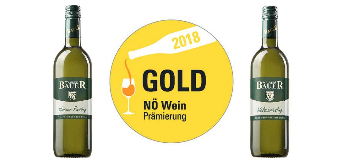 NÖ-Gold für Riesling und Welschriesling
